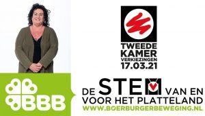 Caroline van der Plas gekozen tot lijsttrekker BBB