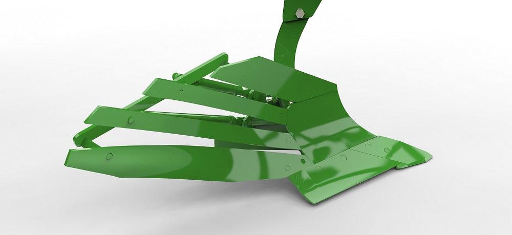 AMAZONE ontwikkelt met de Tyrok 400 geheel nieuwe wentelploeg - Speedblade ploegrister